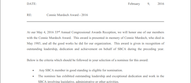 Connie Murdoch Award – 2017